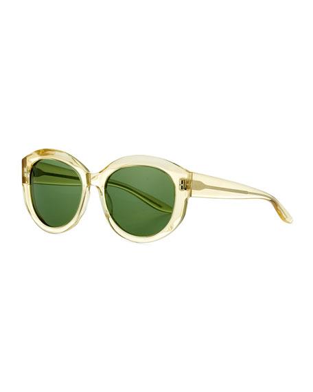 Patchett Translucent Sunglasses, Champagne/Bottle Green