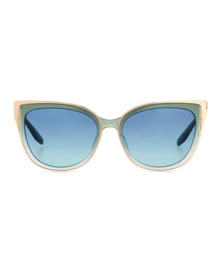 Blue Cat Eye Sunglasses  barton perreira winette grant cat eye sunglasses blue
