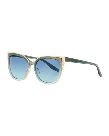 Barton Perreira Winette Gradient Cat-Eye Sunglasses, Blue