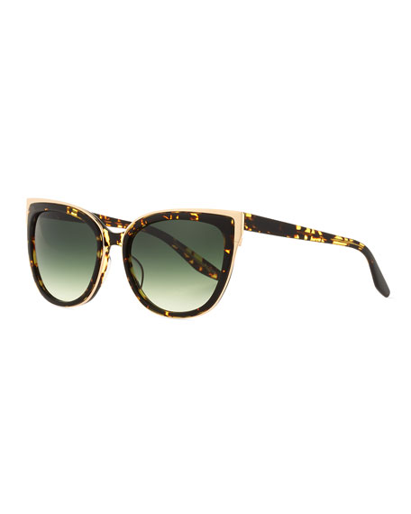 Barton Perreira Winette Gradient Cat-Eye Sunglasses, Havana
