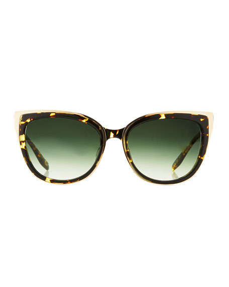 Winette Gradient Universal-Fit Cat-Eye Sunglasses, Tortoise
