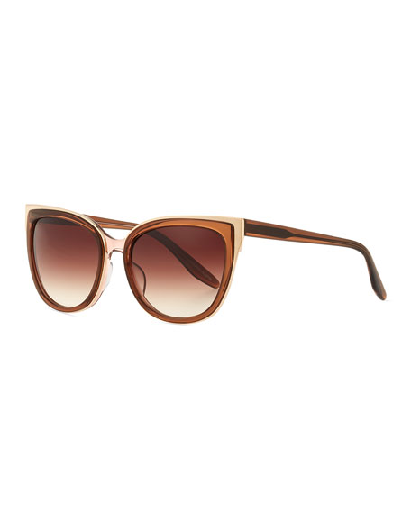 Barton Perreira Winette Gradient Cat-Eye Sunglasses, Brown