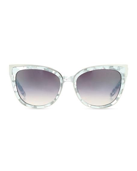 Winette Gradient Cat-Eye Sunglasses, White