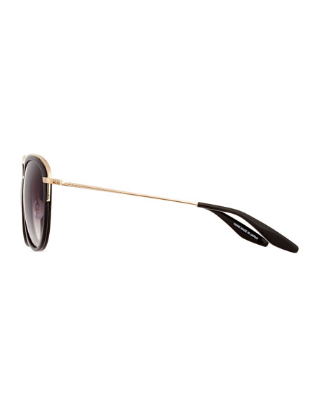 Aviatress Universal-Fit Aviator Sunglasses, Black