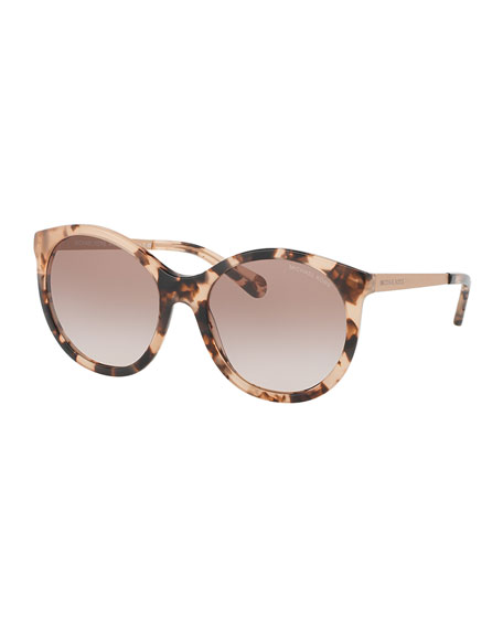 Michael Kors Gradient Butterfly Sunglasses, Peach Tortoise