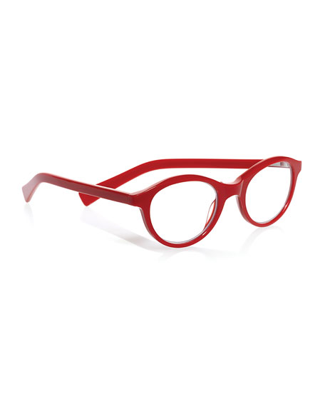 Eyebobs Soft Kitty Rounded Cat-Eye Readers, Red