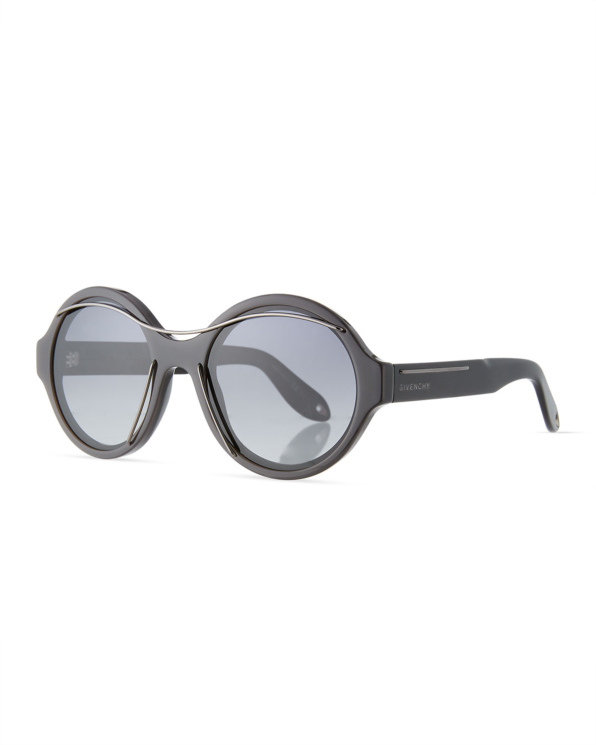 84c8b7d08b Givenchy Round Acetate Sunglasses w Metal Wires