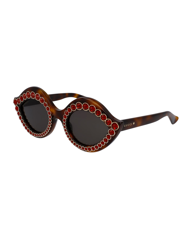 a23e992bb47 Gucci Swarovski® Crystal Monochromatic Cat-Eye Sunglasses