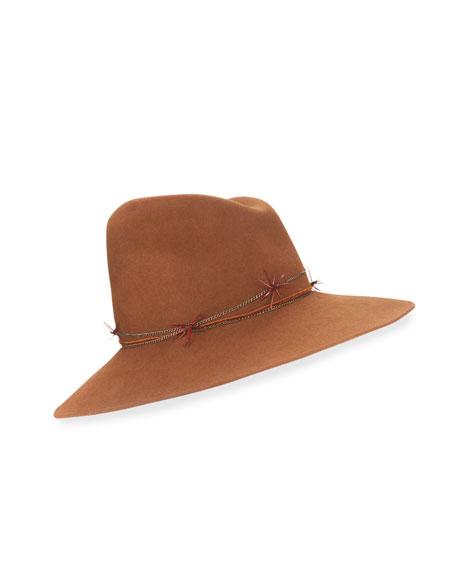 Gigi Burris Drake Asymmetric Felt Hat