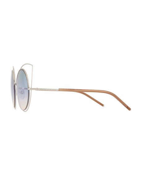 Exaggerated Metal Cat-Eye Sunglasses