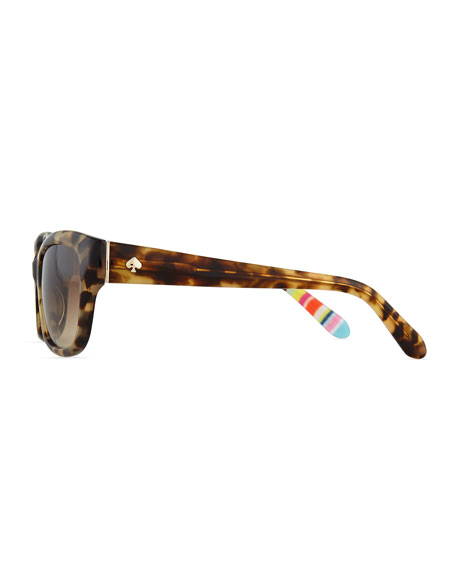 johanna gradient butterfly sunglasses, havana