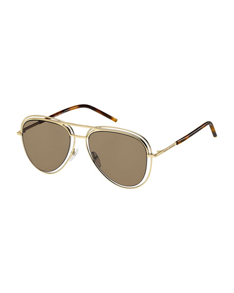 Marc Jacobs Wire-Rim Aviator Sunglasses