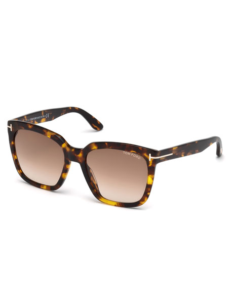 Amarra Square Acetate Sunglasses, Tortoise/Brown
