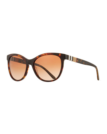 Burberry Check-Trim Cat-Eye Sunglasses