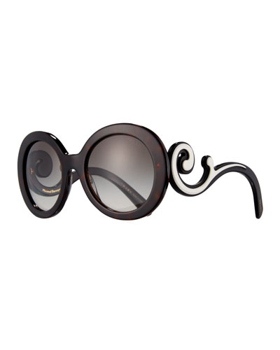 Gradient Round Scroll Sunglasses