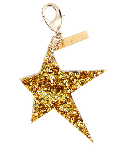 Star Bag Charm  Gold/Silver