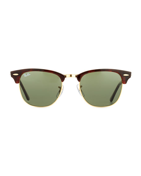 Image 2 of 2: Ray-Ban Clubmaster® Monochromatic Sunglasses