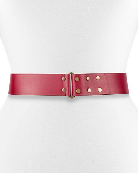 Lanvin Hale Leather Snap Belt