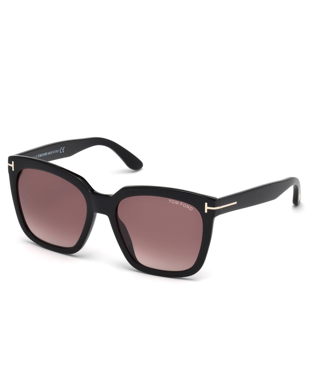 856d43f168c0 TOM FORD Amarra Square Acetate Sunglasses