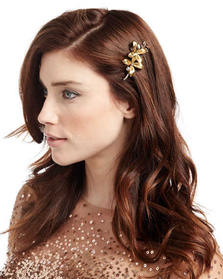 Layla Floral Leaf Bobby Pin