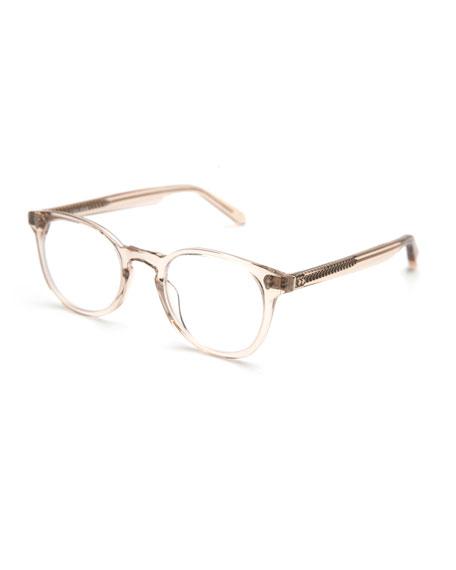 KREWE Marengo Square Transparent Optical Frames, Buff