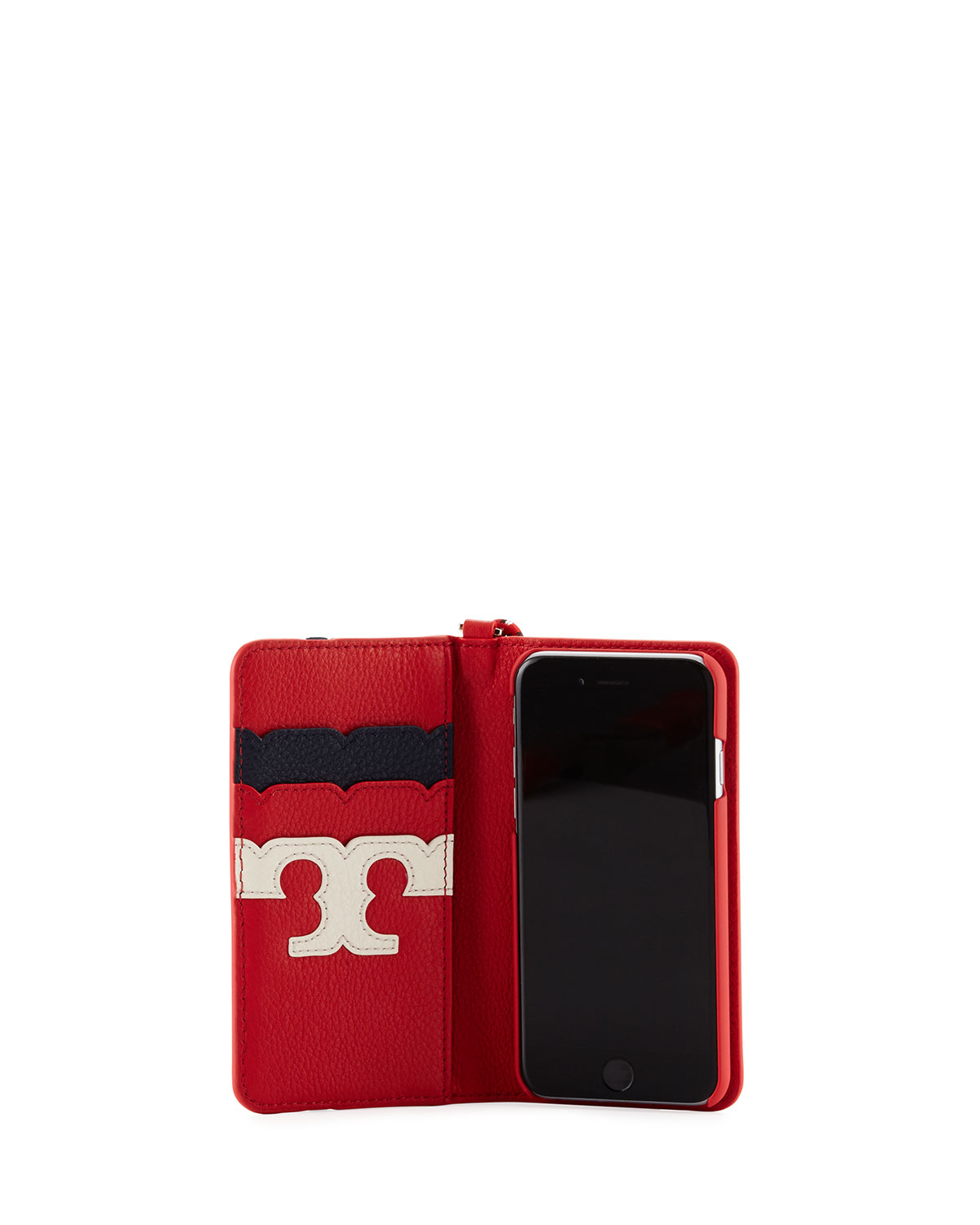 low priced aaabe 1c571 Scallop Stripe Folio iPhone 7 Case, Red