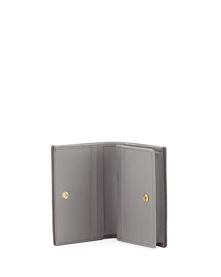 Guccissima Card Case, Gray