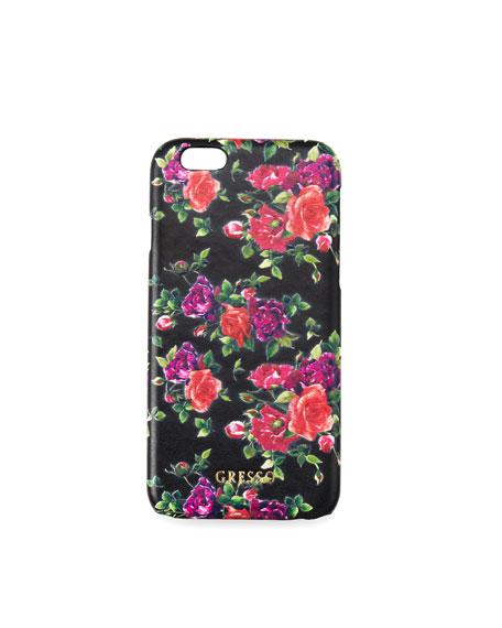 Gresso Victorian Garden iPhone Case, Burgundy Roses