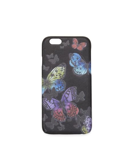Gresso Flutter iPhone Case, Black/Multicolor