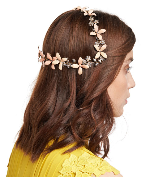 Lillith Painted Flower Coronet Headband