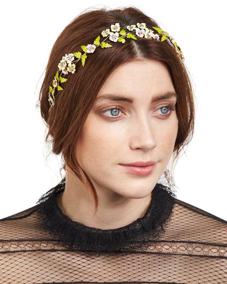 Aviva Floral Circlet Headband
