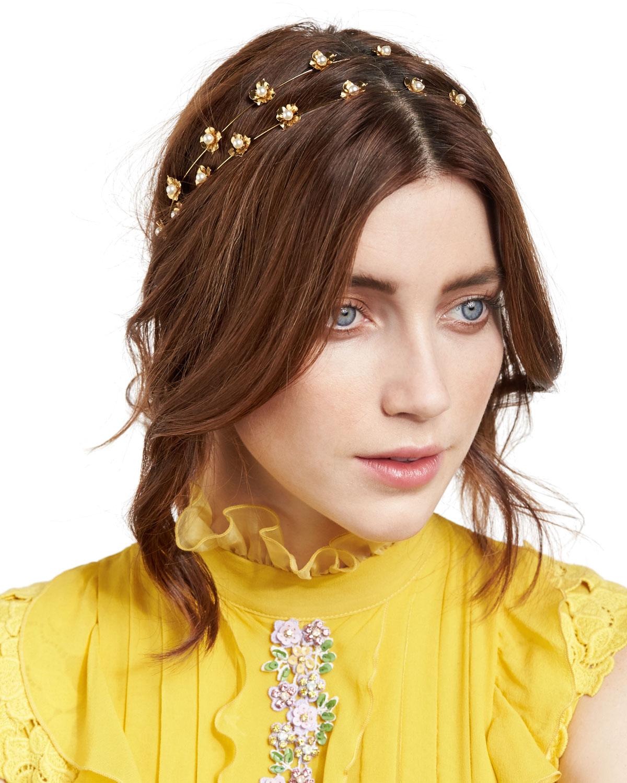 Jennifer Behr Julia Swarovski® Pearl Bandeau Headband  a920db47232