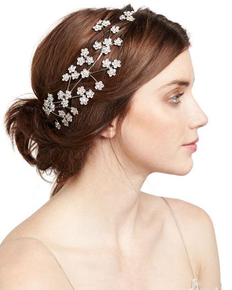 Jennifer Behr Camille Floral Web Circlet Headband
