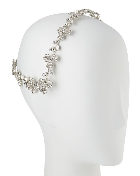 Violet Floral Swarovski® Coronet Headband