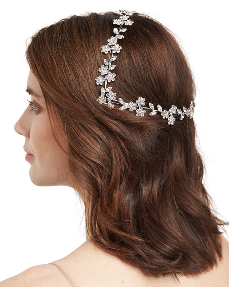 Jennifer Behr Violet Floral Swarovski® Coronet Headband
