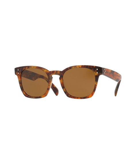 Oliver Peoples Byredo Square Mirrored Sunglasses