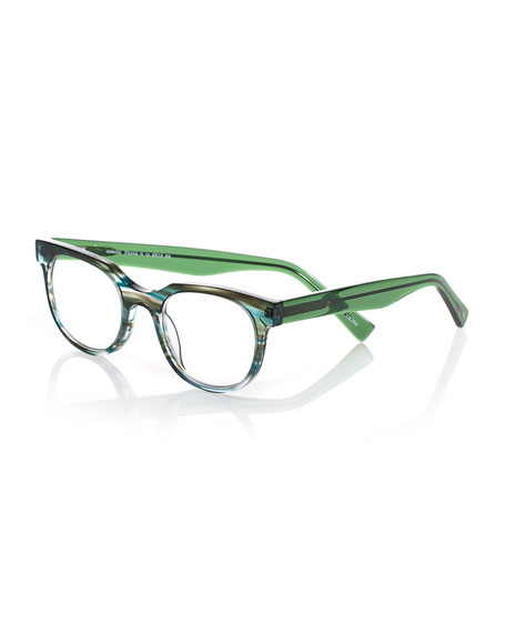 Eyebobs Phone It In Square Readers, Green/Blue