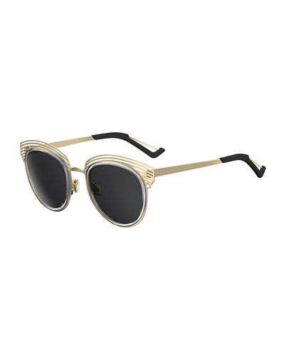Round Titanium Shutter Sunglasses