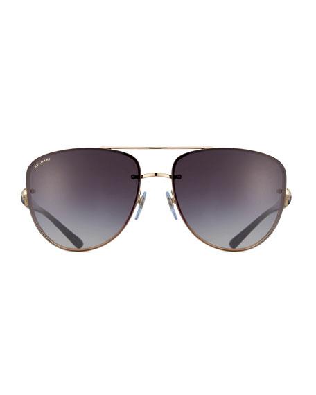 Square Gradient Aviator Sunglasses