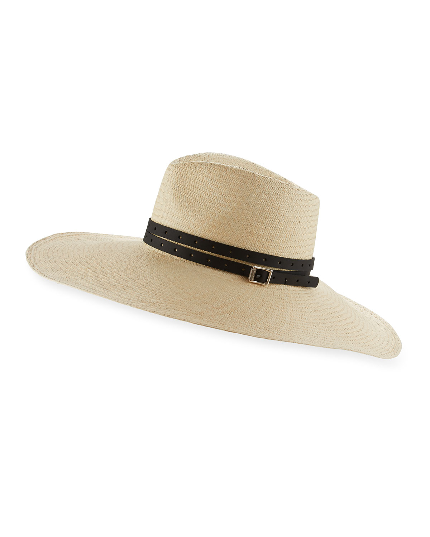 Rag   Bone Wide-Brim Straw Panama Hat with Leather Trim c376a7feecc