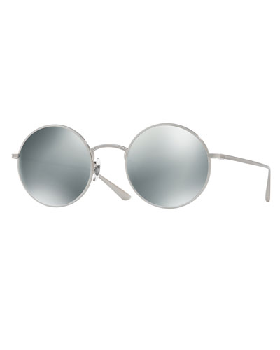 After Midnight Round Sunglasses, Gray