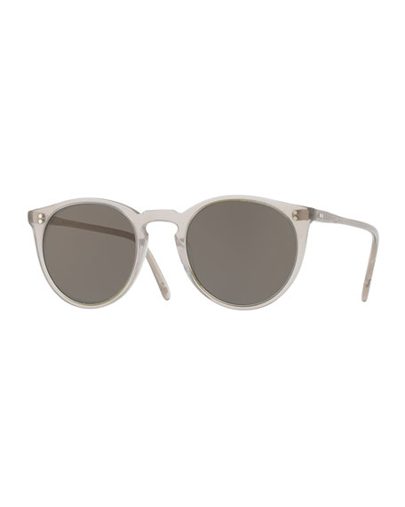 Oliver Peoples O'Malley NYC Peaked Round Monochromatic