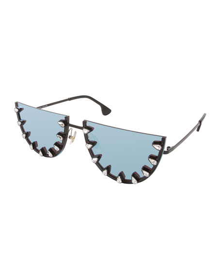 Alice + Olivia Palm Canyon Flat-Top Watermelon Sunglasses,