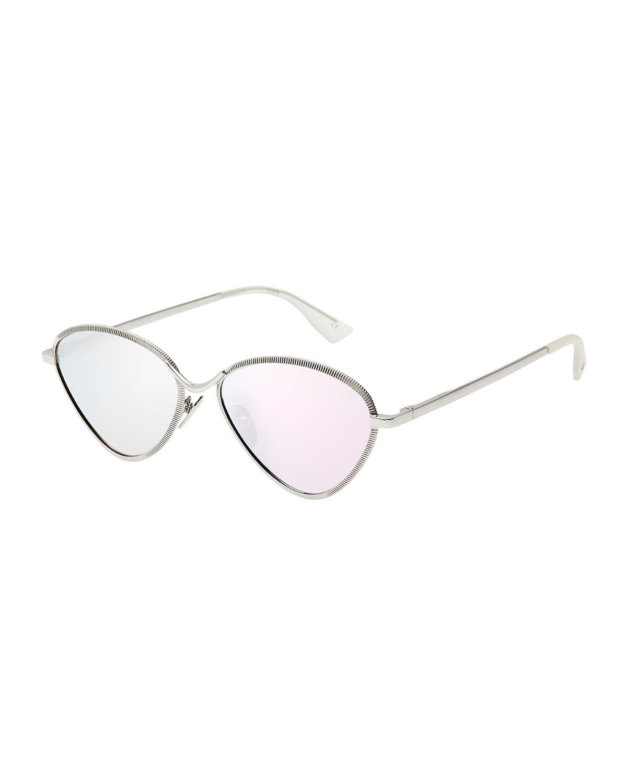 1a31072b75 Le Specs Luxe Bazaar Laser-Cut Geometric Sunglasses
