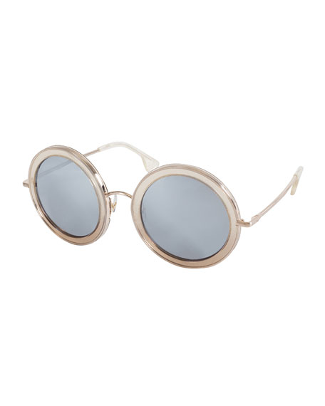 Alice + Olivia Beverly Round Sunglasses, Multicolor