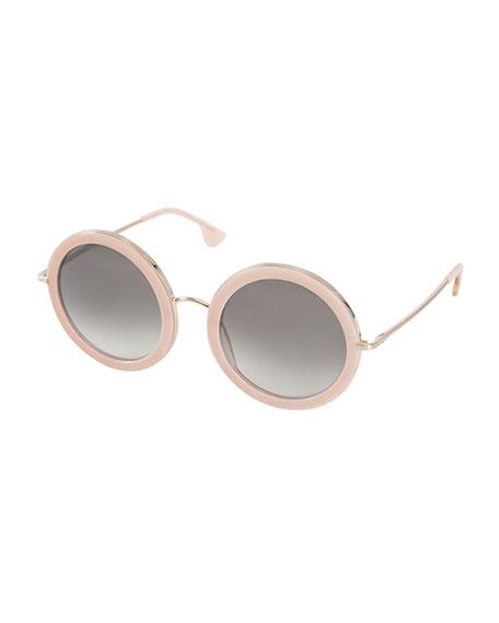 Alice Olivia Beverly Round Sunglasses Blush Neiman Marcus