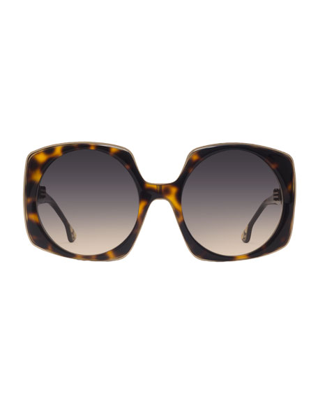 Canton Square Sunglasses, Brown Tortoise