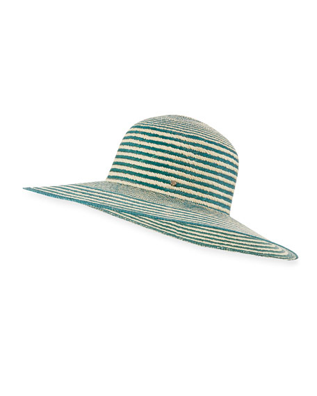 Inverni Iris Two-Tone Straw Sun Hat, Light Brown