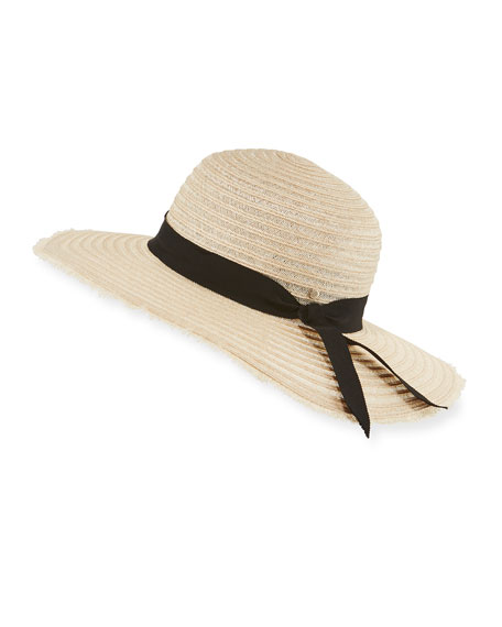 Inverni Indi Braided Hemp-Blend Sun Hat, Light Brown