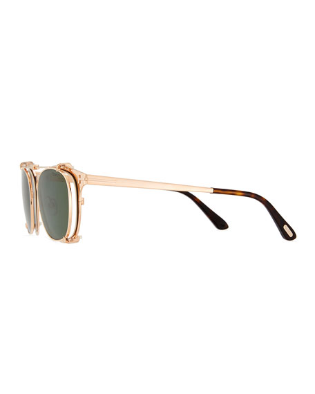 Special Edition Rose Gold-Plated Clip-on Sunglasses Box Set